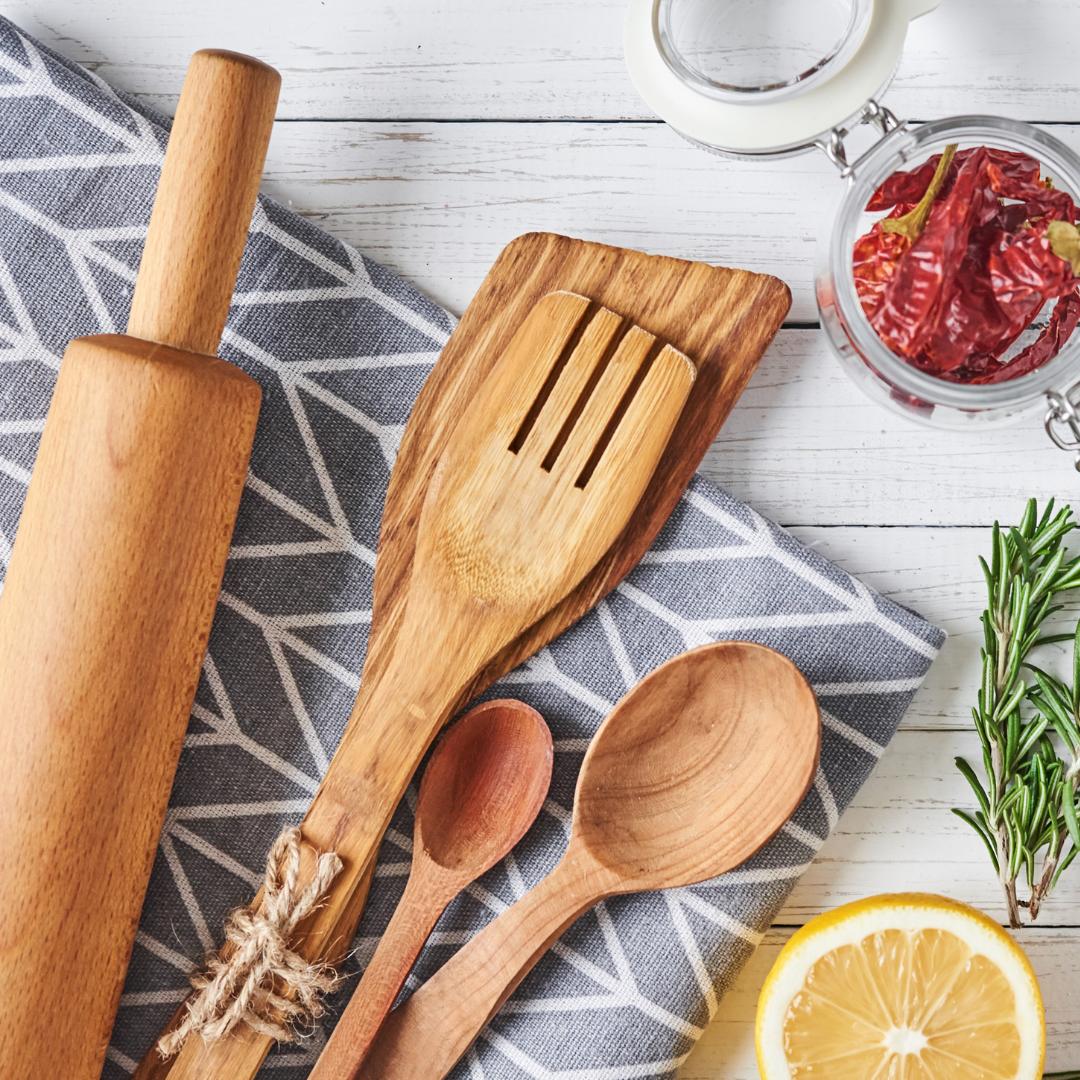 Individueller Online Kochkurs als Firmenevent Kochutensilien